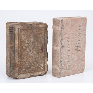 19th Century Carved Stone Books