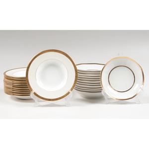 Gold-Rimmed Tressemann & Vogt Limoges and Minton Porcelain Bowls