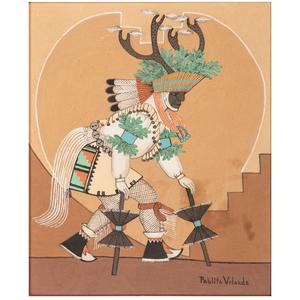 Pablita Velarde (Santa Clara, 1918-2006) Earth Painting