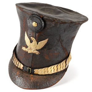 Militia Man's Leather Bell Crown Shako