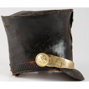 Militia Man's Leather Bell Crown Shako