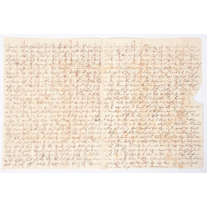 1836 Letter Regarding a Family Slave that Traveled to New Orleans