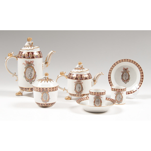 Imperial Russian Porcelain Tea Set