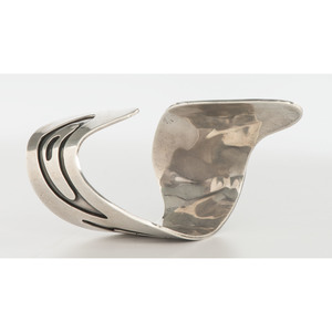 Hopi Silver Overlay Cuff Bracelet