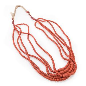 Pueblo Five-Strand Graduated Coral Necklace