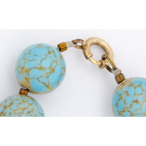 Turquoise Blue Hubbell Trading Post Glass Beads