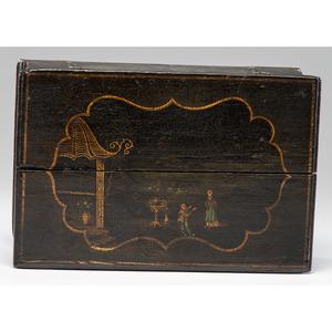 A Georgian Japanned Pine Bible Box