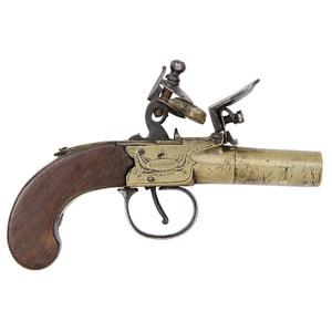 English Boxlock Flint Pistol