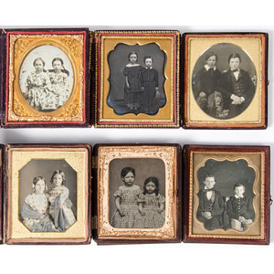 Charming Sixth Plate Daguerreotypes and Ambrotype of Young Siblings