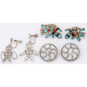Navajo and Zuni Earrings