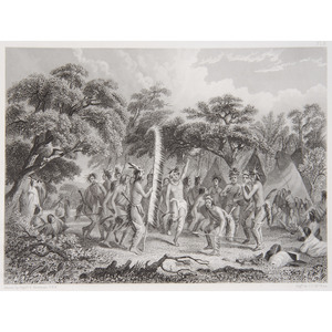 Five Engravings Featuring American Indians