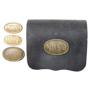 NHSM Model 1855 Cartridge Box with Three Belt Plates