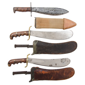 US WWI-WWII Bolo Knives with Sheaths - Lot of Three