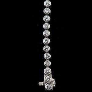 "Tiffany and Co. Platinum Diamond ""Jazz"" Bracelet"