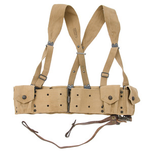 Early 1903 Woven Cavalry Belt With Suspenders