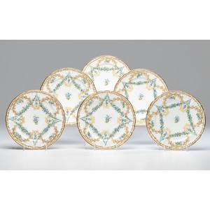 Bourdois & Bloch for Duhme Porcelain Plates
