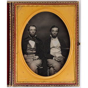 Half Plate Daguerreotype of Two Brothers by Cooley, Springfield, MA