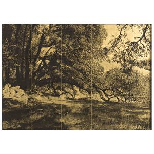 Sally Larsen (Apache-Aleut, b. 1954) Fifteen-Panel Orotone, From the Collection of Robert B. Riley, Urbana, IL