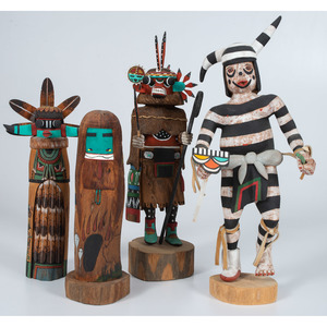 E. Adams (Hopi, 20th century) Hano Clown Katsina, PLUS
