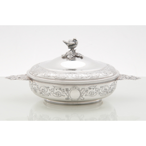 French Sterling Lidded Dish