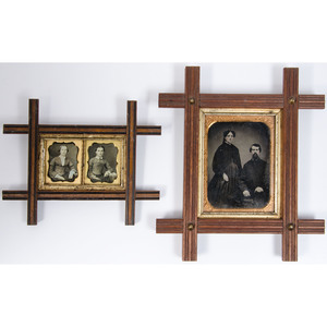 Framed Images of Young Women and a Couple, Plus