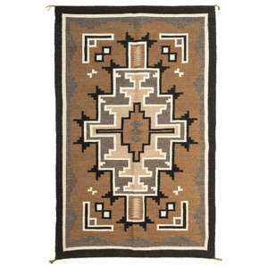 Lucy Begay (Dine, 20th century) Navajo Two Grey Hills Weaving / Rug