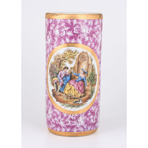 Limoges Hand-Painted Umbrella Stand