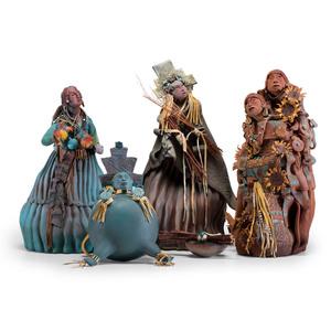 Elizabeth Abeyta (Navajo, 1955-2006) Ceramic Sculptures