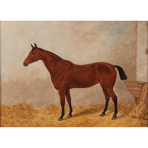 English School, Portrait of a Horse in a Stable