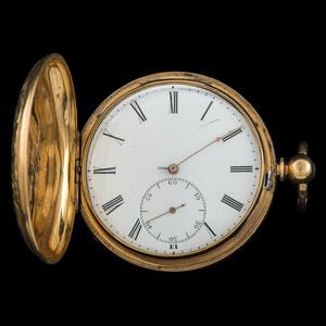 Breitling Laederich 18k Yellow Gold Hunter Case Pocket Watch Ca 1905
