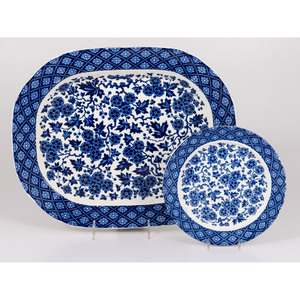 Ridgway Hawthornden Platter and Plate