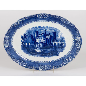 English Flow Blue Alhambra Platter