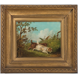 Oil on Canvas of Dogs, signed A. Blake