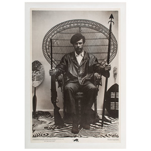 Iconic Huey P. Newton Black Panther Poster, ca 1968