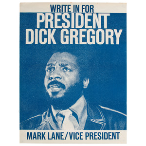 Dick Gregory Presidential Campaign Poster, 1968