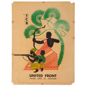 Black United Front Taking Care of Business Poster, ca 1968