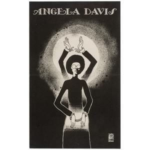 Rare Angela Davis Cuban Support Poster by Alfredo Rostgaard