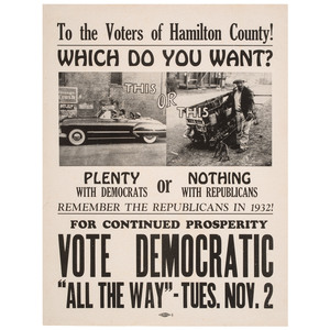 To the Voters of Hamilton County!, 1948 Election Democratic Party Campaign Poster Aimed at African Americans