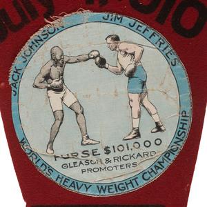 Jack Johnson vs. Jim Jeffries Pennant, 1910 Reno, Nevada