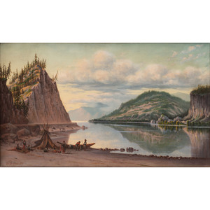 Grafton Tyler Brown Mitchell's Point, Looking Down the Columbia, 1887