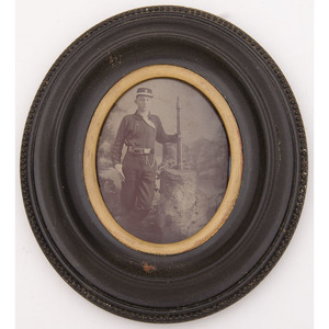 Sixth Plate Tintype of a Fireman in Uniform