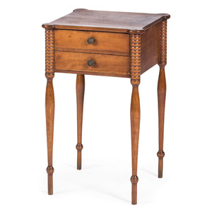 A New England Federal Cherrywood Work Stand