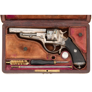 Leather Covered Wood Cased Galand Revolver