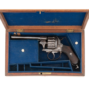 Cased Twelve-Shot Pinfire Revolver Retailed by F. Primavesi & Son