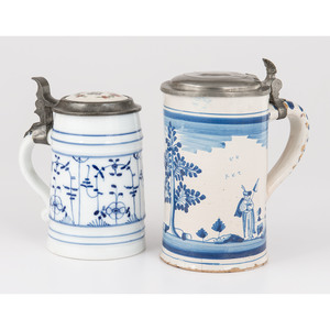 Delft Steins with Pewter Lids