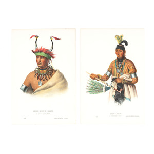 McKenney & Hall (American, 1837-1844) Hand-Colored Lithographs
