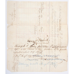 Confederate Generals Francis T. Nicholls and Thomas Green, Pair of Signed Documents