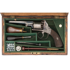 A Good Cased Adams Percussion Revolver of Bentley Type