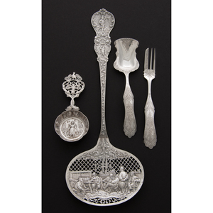 Dutch Repoussé Silver Flatware