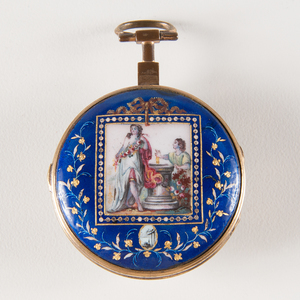 Austrian Enameled Cased Pocket Watch